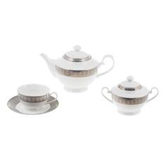 Набор чайный Macbeth bone porcelain Alessio 14предметов 230мл 6 персон