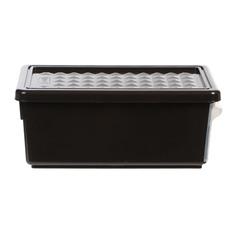 Ящик для хранения с боковой дверцей 12л венге Пластик центр