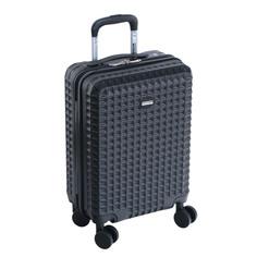 Чемодан proffi travel tour quattro smart 20 пластиковый малый 56х36х21 черный c весами+usb в ручке