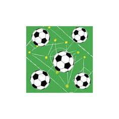 Салфетки трехслойные Duni Soccer 33х33 см 20 шт
