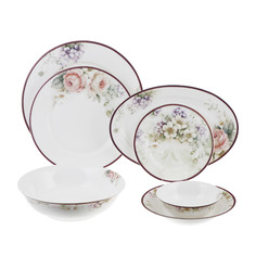 Сервиз столовый Macbeth bone porcelain peony 27 предметов 6 персон