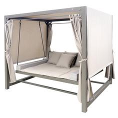Гамак-шатер Greenpatio Barcelona с крышей и шторами с подушками бежевый 236х180х210 см