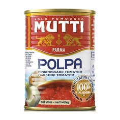 Томаты Mutti резаные кубиками в томатном соке с чесноком 400 г