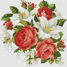 Алмазная мозаика Белоснежка Розы и лилии