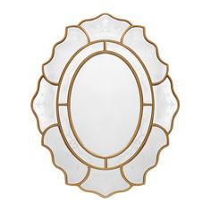 Зеркало в золотистой раме Tengzhou Shengquan 106х86х3 см