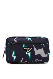 Маленькая сумка с молниями Prada
