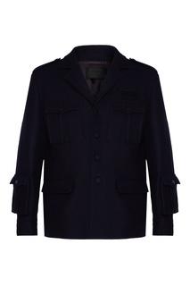 Шерстяная куртка с карманами Prada
