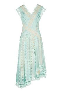Голубое платье из кружевной ткани Zimmermann