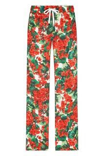 Брюки-джоггеры с цветочным рисунком Dolce&Gabbana