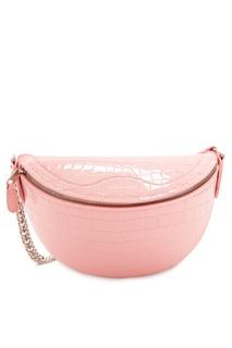 Розовая лакированная сумка Souvenirs XXS Balenciaga