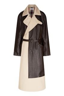 Комбинированный плащ-пальто Balenciaga