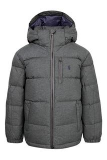 Серая куртка с капюшоном Ralph Lauren Kids