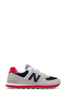 Серые кроссовки 574 с яркими вставками New Balance