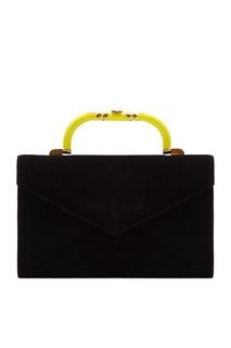 Черная кожаная сумка Kan I Fendi