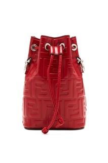 Красная сумка Mon Tresor с отделкой Fendi