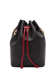 Черная кожаная сумка Mon Tresor Fendi