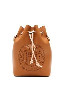 Коричневая сумка Mon Tresor из кожи Fendi