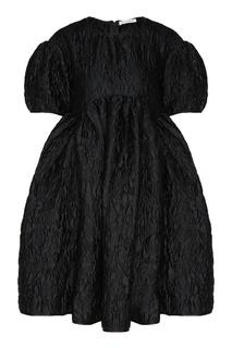 Черное жаккардовое платье Thelma Cecilie Bahnsen