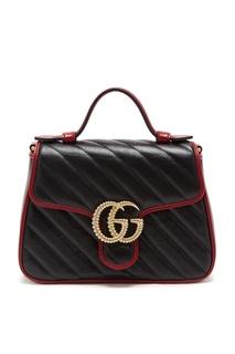 Стеганая кожаная сумка Marmont Gucci