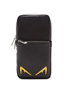 Черный рюкзак на одно плечо Diabolic Eyes Fendi