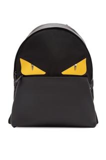 Черный рюкзак с аппликацией Bag Bugs Fendi