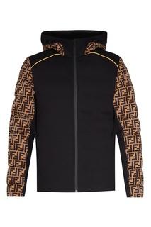 Стеганая куртка с контрастной отделкой Fendi