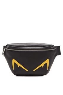 Черная поясная сумка Bag Bugs Fendi