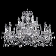 Подвесная люстра 1402/12+6/240/Ni Bohemia Ivele Crystal