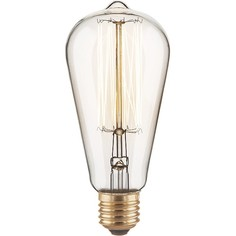 Лампа накаливания ST64 60W E27 220В 60Вт 3300K a034964 Elektrostandard