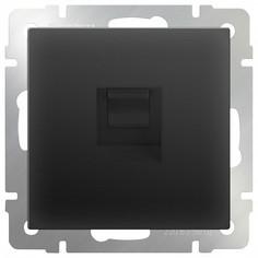 Розетка Ethernet RJ-45 без рамки Черный матовый WL08-RJ-45 Werkel