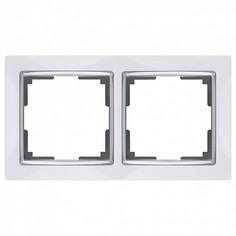 Рамка на 2 поста Snabb WL03-Frame-02-white Werkel