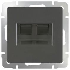 Розетка двойная RJ-11 и Ethernet RJ-45, без рамки Серо-коричневый WL07-RJ11+RJ45 Werkel