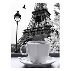 Картина (30х40 см) Париж и чашка кофе HE-101-567 Ekoramka