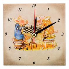 Настольные часы (10x10 см) Свинки 354-1643