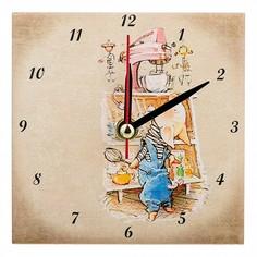 Настольные часы (10x10 см) Свинки 354-1642