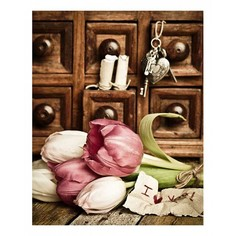 Картина (40х50 см) Тюльпаны ретро HE-101-586 Ekoramka