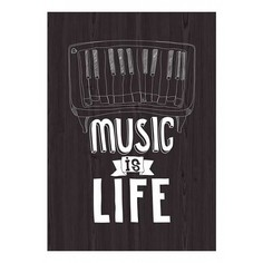 Картина (30х40 см) Music is life ME-105-239 Ekoramka