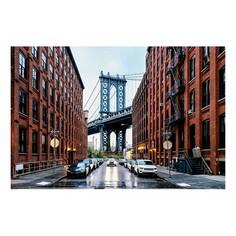 Картина (90х60 см) Улица в Нью-Йорке HE-101-913 Ekoramka