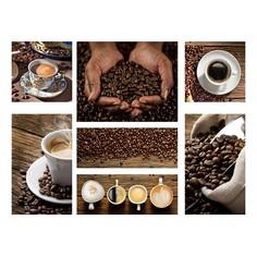 Набор из 7 картин (110х80 см) Кофе и зерна HE-110-115 Ekoramka