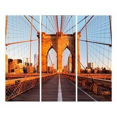 Набор из 3 картин (60х50 см) Мост закат ME-109-155 Ekoramka