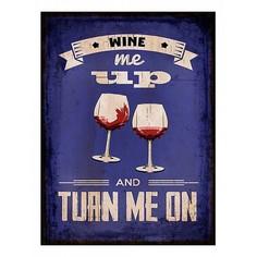 Картина (30х40 см) Wine me up HE-101-399 Ekoramka