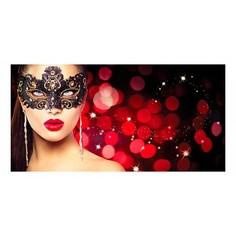 Картина (120х60 см) Девушка в красной маске HE-102-142 Ekoramka