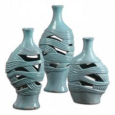 Ваза настольная Набор из 3 ваз настольных Glesig 19692 Uttermost