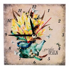 Настольные часы (10x10 см) Сады в цветах 354-1317