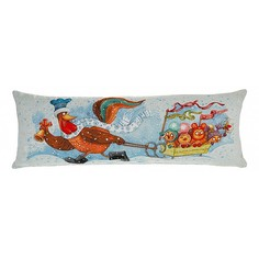 Подушка декоративная (90x30 см) Петушки с санками 850-902-31