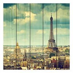 Картина (90х90 см) Париж винтаж DE-104-184 Ekoramka