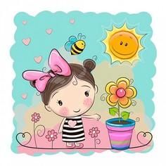 Картина (40х40 см) Маленькая девочка HE-101-955 Ekoramka
