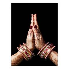 Картина (60х90 см) Индия руки DE-104-505 Ekoramka