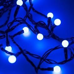 Гирлянда нить [5 м] Ball ARD-BALL-CLASSIC-D13-5000-BLACK-50LED BLUE (230V, 3.5W) Arlight