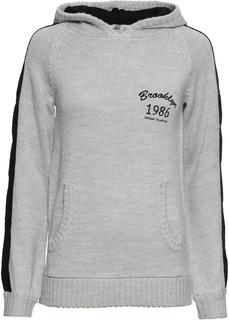 Пуловеры с круглым вырезом Вязаный анорак Bonprix